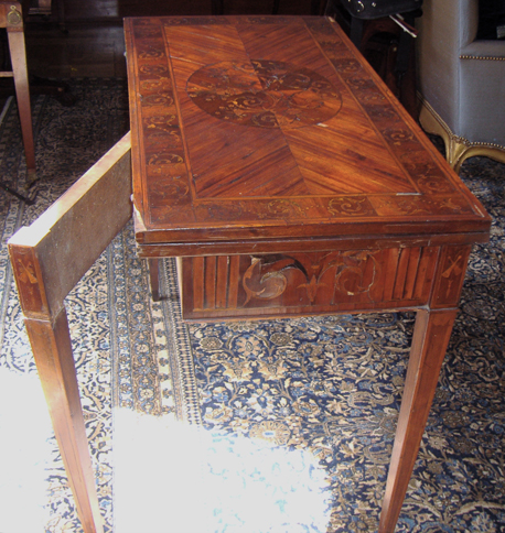 North Italian Marquetry Game Table - Restoration & Repair - NYC